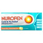 Nurofen 16 cold & flu relief tablets - each