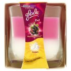 Glade 2in1 candle blackberry frost - 135g
