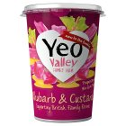 Yeo Valley rhubarb & custard yogurt - 450g New Line