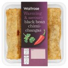 Waitrose black bean chimichangas - 120g