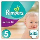 Pampers Active Fit 5 Essential 35 Nappies - 35s
