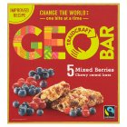 Geobar Fairtrade Mixed Berries Chewy Cereal Bars - 5x35g