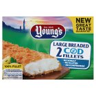 Young's Large Breaded Wheat Free Cod Fillets - 260g