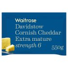 Waitrose Cornish Cheddar Extra Mature Strength 6 - 550g