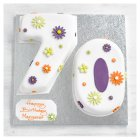70th Birthday flowers cake - each