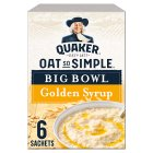 Quaker Oats So Simple Big Bowl golden syrup porridge cereal sachets - 397g