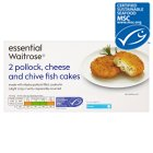 Waitrose essential MSC cheese & chive fishcakes - 170g