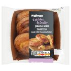 Waitrose pains aux raisins - 4s