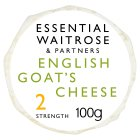 essential Waitrose English goat's cheese strength 2 - 100g