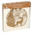 Waitrose Christmas gold reindeer cards - 5s