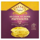 Patak's 10 plain pappadums - 100g Brand Price Match - Checked Tesco.com 16/04/2014