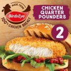 Birds Eye 2 chicken quarter pounders - 227g