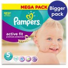 Pampers Active Fit Sze 5 Mega 72 Nappies - 72s