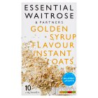 essential Waitrose golden syrup instant oats - 10x39g