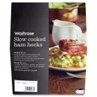 Waitrose slow cooked ham hocks - per kg