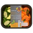Waitrose glazed carrots & green vegetables - 240g