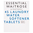 essential Waitrose 45 Laundry Water Softener Tablets - 45x15g