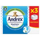 Andrex Classic Clean Toilet Tissue Wipes Washlets Triple Pack - 126s