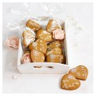 12 Lace Heart Gingerbread Biscuits - 12s