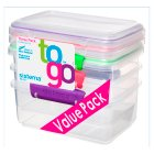 Sistema To Go 1Litre Value Pack - 3s