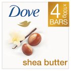 Dove beauty bar shea butter - 4x100g Brand Price Match - Checked Tesco.com 05/03/2014
