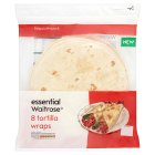 essential Waitrose 8 tortilla wraps