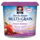 Quaker Oats So Simple multi-grain fruit muesli porridge cereal pot - 57g Brand Price Match - Checked Tesco.com 17/12/2014
