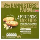 Bannisters' Farm 4 potato skins cheese & onion - 260g