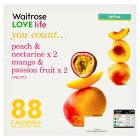 Waitrose LOVE Life you count  Peach & Nectarine and 2 Mango & Passion Fruit Probiotic Yogurt x 4 - 4x125g