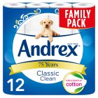 Andrex Classic White Toilet Rolls - 12s