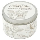 Waitrose FG gardenia & tea tin candle - each