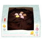 Waitrose Easter Belgian chocolate nest cake - each