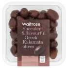 Waitrose Greek kalamata olives in a herb dressing - 220g