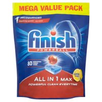 Finish Powerball All-in-1 Max 80 Dishwasher Tablets Lemon Sparkle