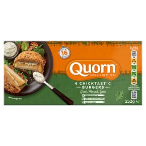 Quorn chicken style burgers