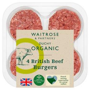 Duchy from Waitrose British beef 4 burgers