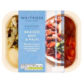 Waitrose braised steak with mashed potato