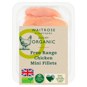 Waitrose Duchy Organic Free Range British chicken mini fillets