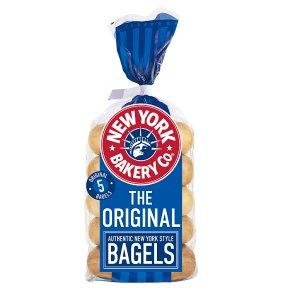New York Bakery Co. Plain Bagels