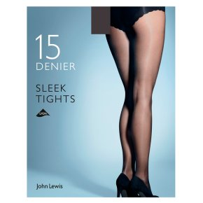John lewis Sleek Natural Black Tights - Medium
