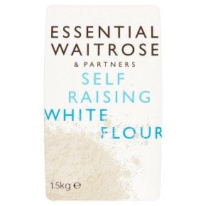 essential Waitrose self-raising white wheat flour