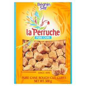 La Perruche rough cut pure brown cane sugar cubes