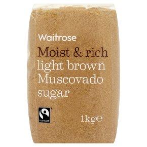 Waitrose light brown muscovado sugar