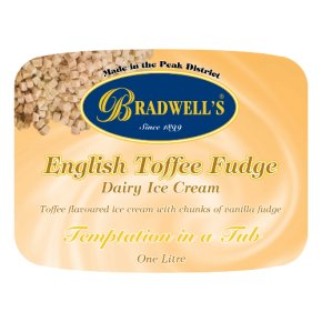 Bradwell's English toffee fudge dairy ice cream