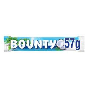 Bounty milk chocolate single bar