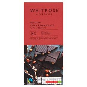 Waitrose Belgian plain whole nut chocolate
