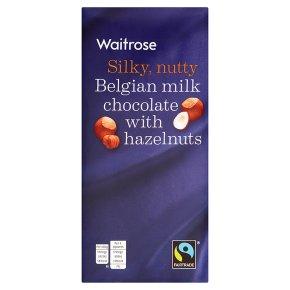 Waitrose FT Belgian Milk Choc w Hazelnuts