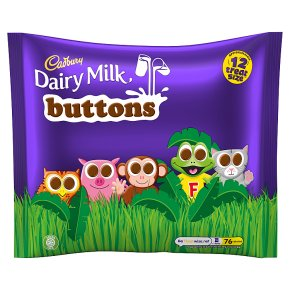 Cadbury Dairy Milk Buttons treatsize chocolate bag