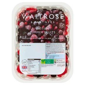 Waitrose British frozen summer fruits