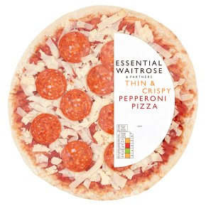 essential Waitrose Thin & Crispy Pepperoni Pizza